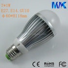 7W high power LED bulb light, lamp light