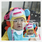 colorful and wholesales lovely knitted owl hat for babys