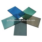 color reflective glass for building (blue/green/gray)
