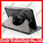 360 Degree Rotatory Stand Leather Case for Motorola Xoom2 8.2 Tablet with Elastic Strip