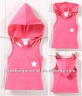 2012 Korea, the new boy and girl in summer children's clothing B2W2 star hooded sleeveless T-shirt Set