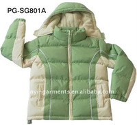 100% Polyester Miton with PVC coating Boy's Winter Jacket PG-SG801
