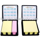 memo yellow notepad with calendar