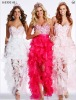 Any color front short and long back tulle Evening Dresses