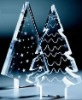 Desktop clear acrylic christmas tree printing as you require