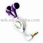 stereo retractable mp4 earphone