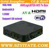 Nice AMLogic M3 tv box 1GB/4GB Cortex A9 1.2GHz Android 4.0 WiFi & RJ45 Ethernet 1080P HDMI & AV output