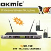 OK-720 UHF wireless microphone Dual Channels/UHF PLL 32/99 channels