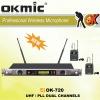 OK-720 UHF wireless microphone Dual Channels/UHF PLL 32/99 channels