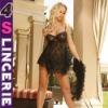2011 per-sale Women's Babydoll Chemise lingerie bar&top set include panty