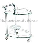 modern design tempered glass show shelf