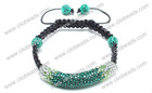 Fashion Crystal Shamballa Tube Bracelet With Beads