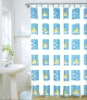 blue fancy shower curtains