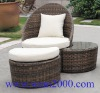 modern garden pe rattan lounge set for outdoor