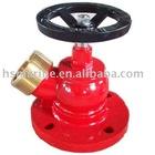 Oblique flange landing valve