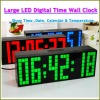 2012 Hot sale large time clock with thermometer led big digital clock