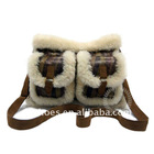 women's fashion sheepskin handbag China