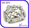 Stainless steel imperial crown silver ring