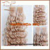 Blonde curly hair extension