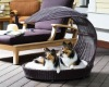 plastic rattan dog bed YDL-D20230