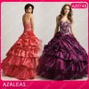 AZ0748 Beading Embroidery Handmade Flower Ruffle Floor Length Sweethweart Quinceanera Dresses
