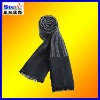 ST-SC07#2013winter men's checked cotton/wool/cashmere tassel knitted jacquard scarf