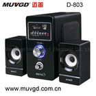 Black Fairy MDF Sound Audio Multimedia Speaker With USB Play Function