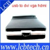 USB to DVI/VGA/HDMI Ultra High Definition Display 2048*1152