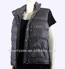 women reversible nylon padded vests down-feeling bodywarmer