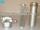 hydraulic cyclindrical solvent filter housing