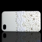 white pearl shell with lace Pearl mobilephone shell