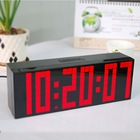 Digital Large Big Jumbo LED wall desk alarm with world time travel clock