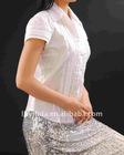 hand make gray sequin skirt