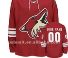 Coyotes Red Custom Authentic Jersey Free Shipping Wholesale Mix Order
