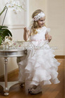 Morden scoop sleeveless organza flower girl dress