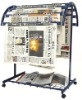 steel newspaper rack