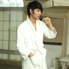 BATHROBE FOR MEN. WINTER THICKER COTTON VELOUR ROBE.