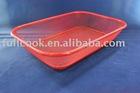 Colorful square shape food basket, fruit basket, vegetable basket w/stander