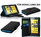 Hot sell good quality flip wallet leather case for Nokia Lumia 920