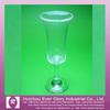 PS Transparent plastic wine cup