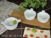 white ceramic serving dishes