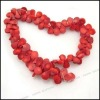 Wholesale Red Teardrop Coral Beads Gemstones Fit Jewelry Making LaLang110225
