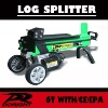 CE approved 6 tons electric cool and durable log splitter
