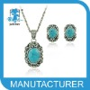high fashion statement necklace, bracelet, earrings and rings