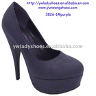2012 hot sale purple season women high heel dress shoes