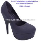 2012 hot sale purple season women high heel dress shoes