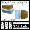book foldable corrugated paper shoe box