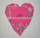 Heart-shaped paper hang tag