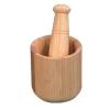 bamboo mortar&pestle