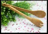 wooden bamboo bread clip food tong